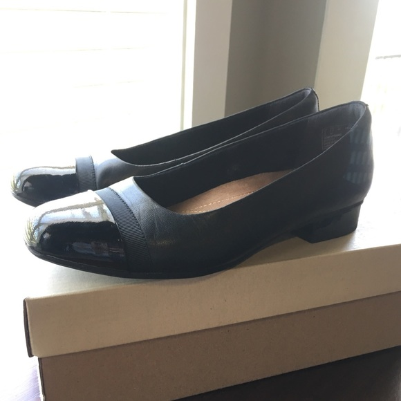 b3eae5c04d Clarks Shoes | Keesha Rosa Black Leather Flats | Poshmark